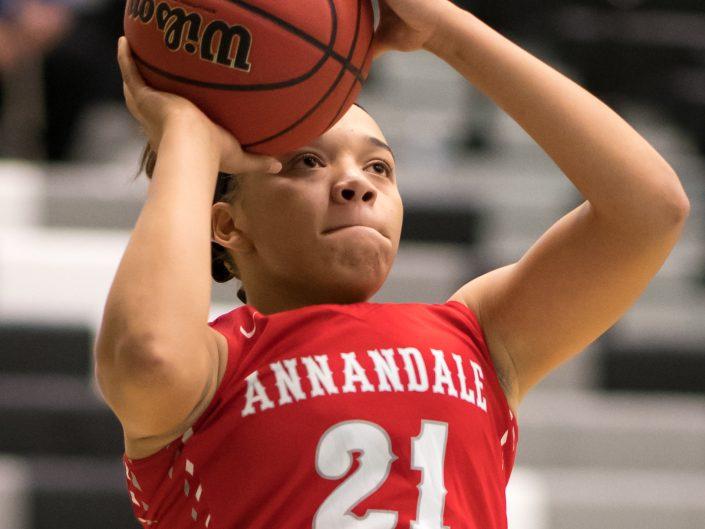 2018-01-24 Annandale HS Girls Varsity Basketball vs. Centreville HS